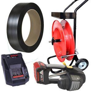 Komplet za baterijsko povezovanje | MB620 12-16mm - 2x bateriji in polnilec - PP trak 12mm ali 16mm - odvijalec PET/PP traku