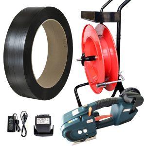 Komplet za baterijsko povezovanje | TES 12-16mm - 2x bateriji in polnilec - PP trak 12mm ali 16mm - odvijalec PET/PP traku