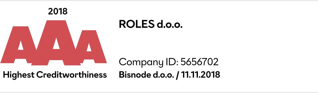 Roles d.o.o. AAA podjetje v Sloveniji
