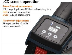 Battery strapping tool TES PRO Digital display